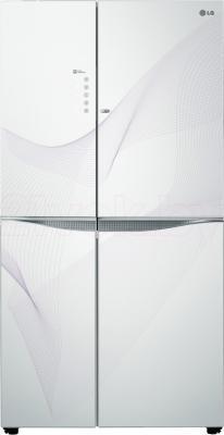 Холодильник с морозильником LG GR-M257SGKW - общий вид