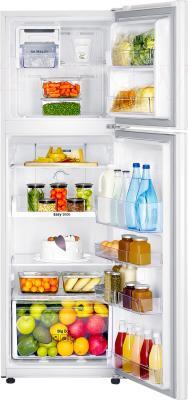 Холодильник с морозильником Samsung RT25HAR4DWW/RS - пример заполненного холодильника