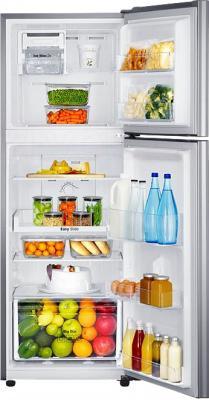 Холодильник с морозильником Samsung RT22HAR4DSA/RS - пример заполненного холодильника