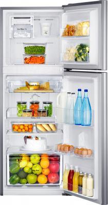 Холодильник с морозильником Samsung RT22FARADSA/RS - пример заполненного холодильника