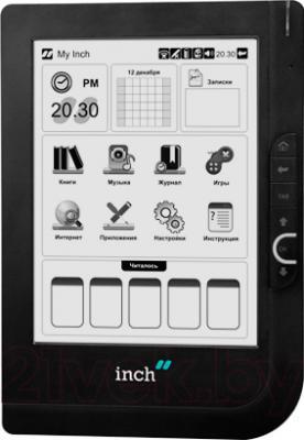Электронная книга Inch S6t (Black) - фронтальный вид