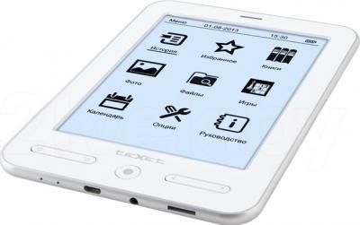Электронная книга TeXet TB-536FL (белый) - общий вид