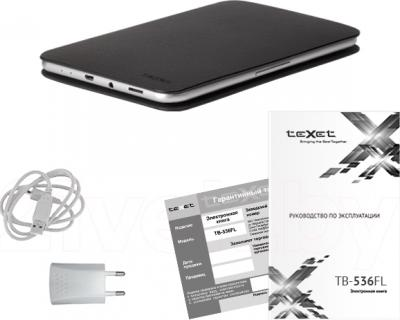 Электронная книга TeXet TB-536FL (серый) - комплектация