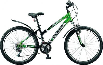 Велосипед Stels Navigator 450 (Black-Green) - общий вид