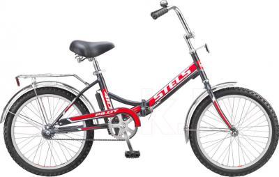 Велосипед Stels Pilot 410 (Black-Red) - общий вид