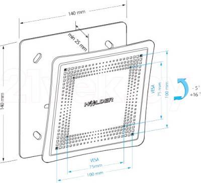 Кронштейн для телевизора Holder LCD-T1802М-B - габаритные размеры