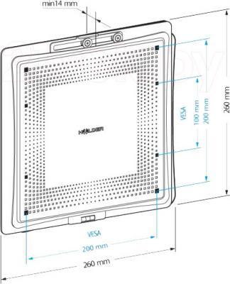 Кронштейн для телевизора Holder LCD-F2801М-B - габаритные размеры