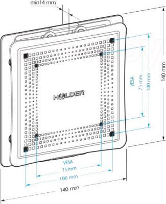 Кронштейн для телевизора Holder LCD-F1801М-B - габаритные размеры
