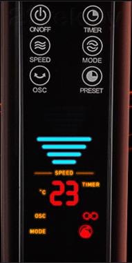 Вентилятор Bork P502 - дисплей