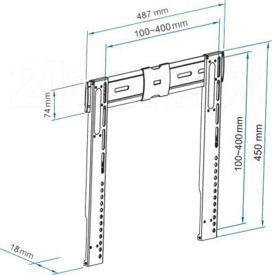 Кронштейн для телевизора Sven FS31-44 - габаритные размеры