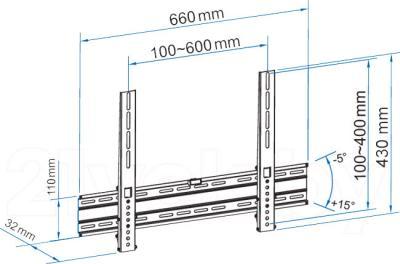 Кронштейн для телевизора Sven T58-64 - габаритные размеры