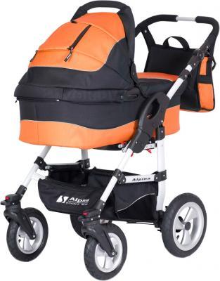 Детская универсальная коляска Riko Alpina (Agent Orange) - общий вид