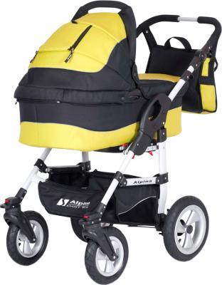 Детская универсальная коляска Riko Alpina (Sun Yellow) - общий вид