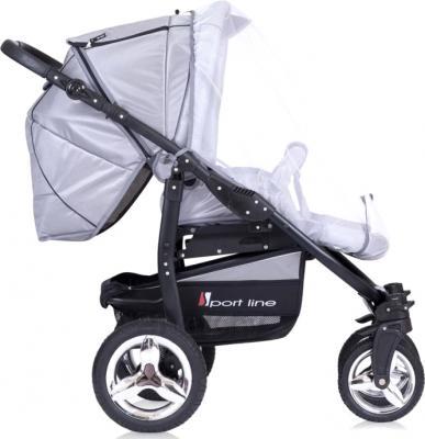 Детская универсальная коляска Riko Laser (Magenta) - москитная сетка (цвет Silver)