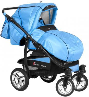 Детская универсальная коляска Riko Laser (Neon Blue) - общий вид