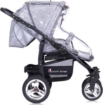 Детская универсальная коляска Riko Laser (Warm Red) - дождевик (цвет Silver)