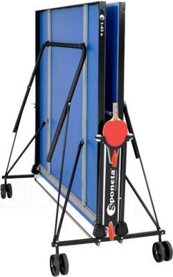 Теннисный стол Sponeta S1-43e (Blue) - в сложенном виде