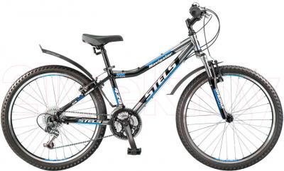 Велосипед Stels Navigator 420 (синий/хром) - общий вид