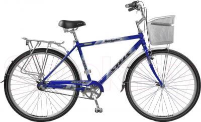 Велосипед Stels Navigator 380 (черный/синий) - общий вид