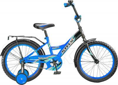 Детский велосипед Stels Talisman Black 16 (Blue) - общий вид