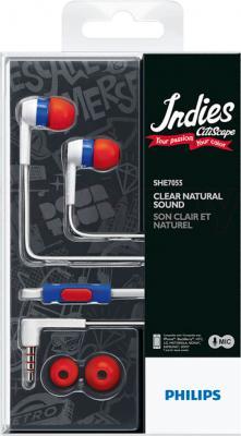 Наушники-гарнитура Philips SHE7055RU - вид в упаковке