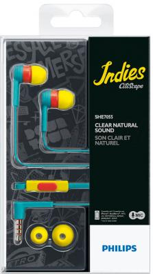 Наушники-гарнитура Philips SHE7055BR - вид в упаковке
