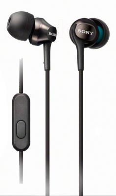 Наушники-гарнитура Sony MDR-EX100AP (Black) - общий вид