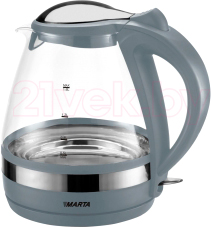 Электрочайник Marta MT-1049 (серый) - общий вид