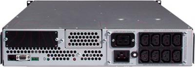 ИБП APC Smart-UPS 3000VA USB & Serial RM 2U (SUA3000RMI2U) - вид сзади