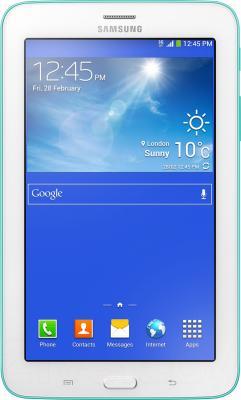 Планшет Samsung Galaxy Tab 3 Lite SM-T110 (8Gb, Blue) - фронтальный вид