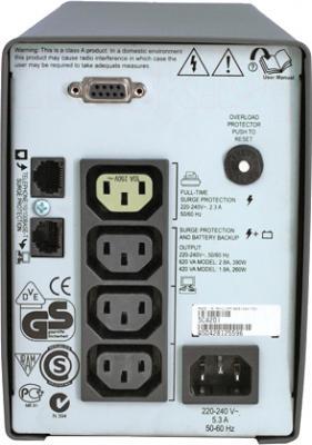 ИБП APC Smart-UPS SC 420VA (SC420I) - вид сзади