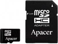 Карта памяти Apacer microSDHC UHS-I (Class 10) 8GB + адаптер (AP8GMCSH10U1-R) -