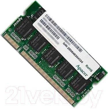 Оперативная память DDR3 Apacer AP4GSTY1K3 - общий вид