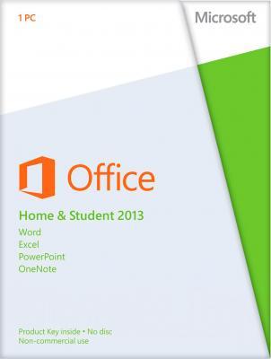 Пакет офисных программ Microsoft Office Home and Student 2013 32/64 Ru (79G-03738) - общий вид