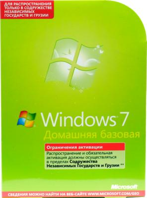 Операционная система Microsoft Windows Home Basic 7 SP1 64-b Ru 1pk (F2C-01531) - общий вид