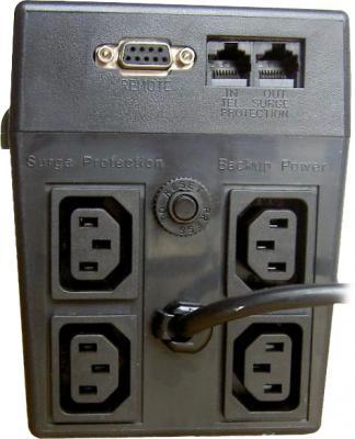 ИБП Orvaldi 520USB (черный) - вид сзади