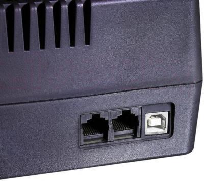 ИБП Orvaldi 750SP (Black) - порты для подключения
