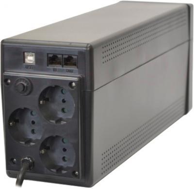 ИБП Powercom Phantom Black PTM-650AP 650VA - вид сзади