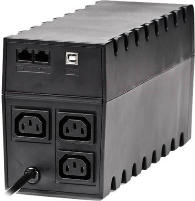 ИБП Powercom Raptor RPT-800AP 800VA - вид сзади