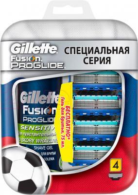 Подарочный набор Gillette Fusion ProGlide (4шт + гель) - общий вид