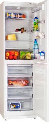 Холодильник с морозильником ATLANT ХМ 4725-000 - пример заполненного холодильника