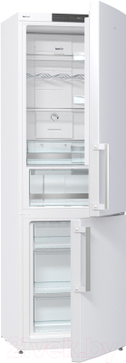 Холодильник с морозильником Gorenje NRK6191JW - общий вид