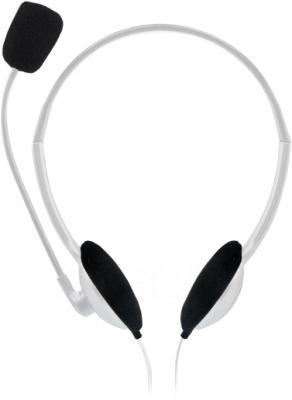 Наушники-гарнитура Sweex HM407 (бело-серебристый) - общий вид