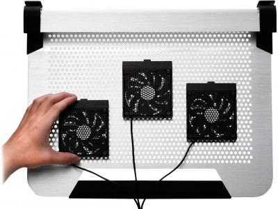 Подставка для ноутбука Cooler Master NotePal U3 (R9-NBC-8PCS-GP) - вариант крепления вентиляторов