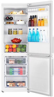 Холодильник с морозильником Samsung RB30FEJNDWW/RS - пример заполненного холодильника