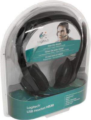 Наушники-гарнитура Logitech USB Headset H530 - вид в упаковке