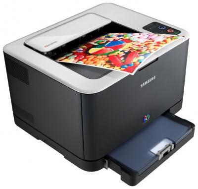 Принтер Samsung CLP-325 Black - сбоку