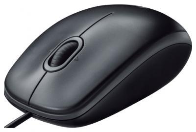 Мышь Logitech B110 Optical Mouse USB (Black) - общий вид