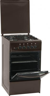 Кухонная плита Nord ПГ4 105-4А (BR) - Вид с открытой дверцей