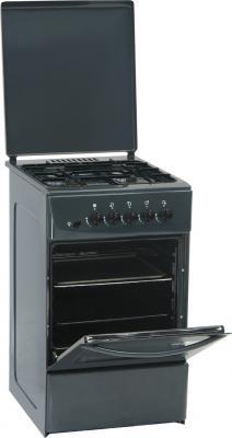 Кухонная плита Nord ПГ4 105-4А (Gray) - Вид с открытой дверцей
